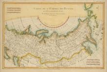 RIGOBERT BOONE (French 1727-1795) A HANDCOLORED ENGRAVED MAP,