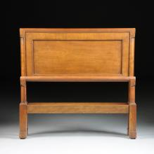 A PAIR OF FRENCH PROVINCIAL STYLE CARVED WALNUT TWIN BEDS, BY THE OLD COLONY FURNITURE COMPANY, 20TH CENTURY,