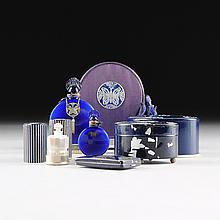 A COLLECTION OF LUCRETIA VANDERBILT INC. COBALT BLUE COSMETICS AND