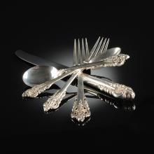 A ONE HUNDRED AND THIRTY-FIVE PIECE WALLACE STERLING SILVER FLATWARE SERVICE,