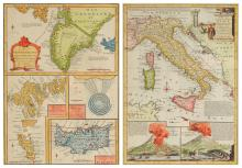 EMANUEL BOWEN (British 1693-1767) TWO COPPERPLATE ENGRAVED MAPS,