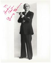 A GROUP OF FIVE ACTOR AUTOGRAPHED 8