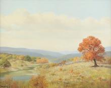 R. MOSELEY  (American/Texas 20th Century) A PAINTING,