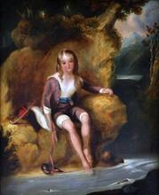 J. HUPTON, R.A. (British) A PAINTING,