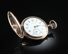 A LAMBERT BROTHERS NEW YORK HUNTING CASE POCKET WATCH,