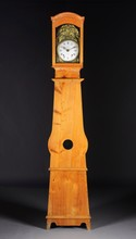 A FRENCH MORBIER STYLE TALL CASE CLOCK, 19TH CENTURY,