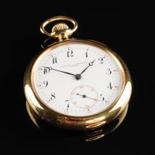 AN 18K YELLOW GOLD VACHERON & CONSTANTIN #10 OPEN FACE POCKET WATCH,