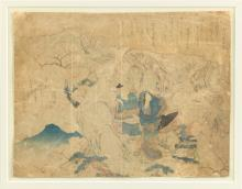 A FRAMED JAPANESE INK PAINTING ON PAPER, LATE 19TH CENTURY,