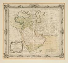 A FRAMED MAP, PERSE TURQUIE, ASIATIQ ET ARABIE, 1766,
