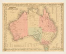 A MAP OF JOHNSON'S AUSTRALIA BY JOHNSON AND WARD,