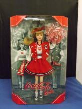 Coca Coal Cheerleader Barbie in Box