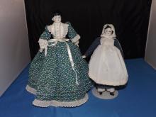 2 German Porcelain head dolls