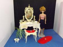 Vintage 1962 Midge Doll  with Vanity Playset