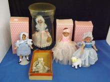 Lot of 5 Dolls including 3 miniature efanbee dolls