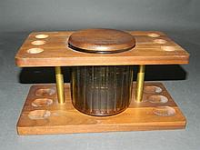 Lidded Humidor Holds 6 Pipes