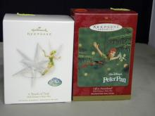 Lot of 2 Disney's Peter Pan Ornaments