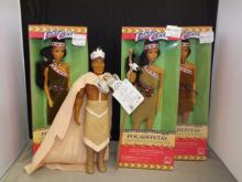 Group of Pocahontas Dolls - 3 In Box plus One