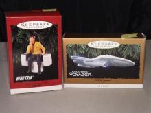 Lot of 2 Star Trek Ornaments