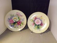 Lot of 2 Handpainted Japanese Porcelain Plates