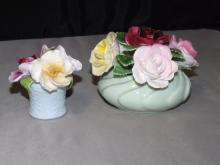 Lot of 2 Bone China Flower Baskets