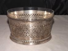 Sterling Silver Basket with Glass Bowl