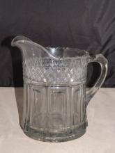 Antique Pressed Glass Water Pitcher