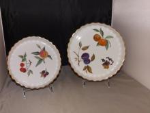 2 Royal Worcester - Evesham Porcelain Tart Dishes