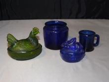 Lot of 4 Glass Pieces