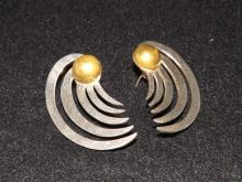 Pair of Sterling Silver Earrings