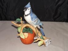 Capodimonte Bone China Blue Jay Figurine