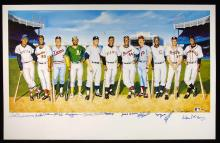 500 Home Run Club autographed poster by Ron Lewis