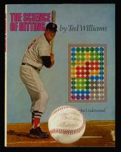 Ted Williams autographed book and single signed baseball