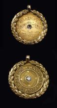 Significant 1911 Philadelphia Athletics World Champions pendant presented to Bris Lord