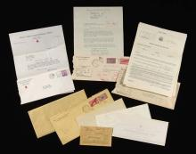 1942 Johnny Pesky Naval/Military Service documents and related material incl