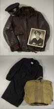 Johnny Pesky WWII Naval and/or Military Service jackets, hats, and related material