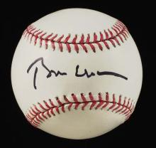 President Bill Clinton single signed baseball