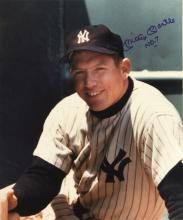 Mickey Mantle autographed large format photograph. Crisp color 16