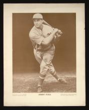 Jimmie Foxx c.1930s autographed Baseball Magazine premium. Desirable oversized printed photographic premium (9.5