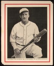 Goose Goslin c.1930s autographed Baseball Magazine publication photograph. Large format black and white image appearing on interior side of back cover has been signed in period fountain pen,