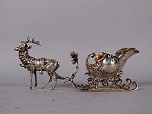 Continental Silver Reindeer and Sleigh Gravy Boat