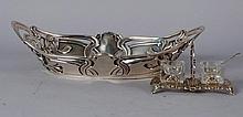 Art Nouveau Continental Silver Bowl & Double Salt