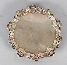 Antique English Silver Footed Salver