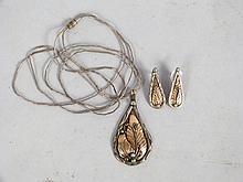Sterling Silver Pendant & Earring Suite