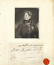 GEORGE IV: (1762-1830) King of the United Kingdom 1820-30. Autograph Envelope Signed, with his initials, G. R., as King,