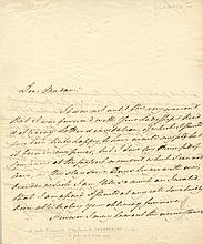 GEORGE IV: (1762-1830) King of the United Kingdom 1820-30. A.L.S., George P, as Prince of Wales, two pages, 4to, Brighto