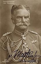 MACKENSEN AUGUST VON: (1849-1945) Also called The Last Hussar. German Field Marshal. One of the German Empire's most pro