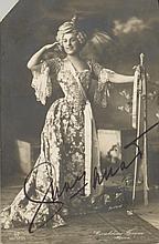 FARRAR GERALDINE: (1882-1967) American Soprano. Vintage signed postcard photograph of Farrar, the image depicting the so