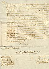 [CHARLES II]: (1661-1700) King of Spain 1665-1700. Manuscript Document, with a stamped signature, (´Yo El Rey´), one pag
