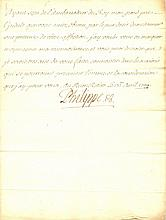 PHILIP V: (1683-1746) King of Spain 1700-46. L.S., Philippe, one page, 8vo, Buen Retiro, 17th April 1709, to Count Pontc