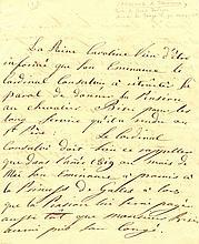 CAROLINE OF BRUNSWICK: (1768-1821) Queen of the United Kingdom 1820-21, wife of King George IV. A.L.S., Caroline R, as Q